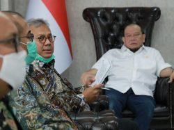 Foto : LaNyalla bersama Ketua KPU RI, Arif Budiman dan Ketua Bawaslu RI, Abhan.